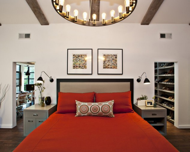 Classic Red And Black Bedrooms