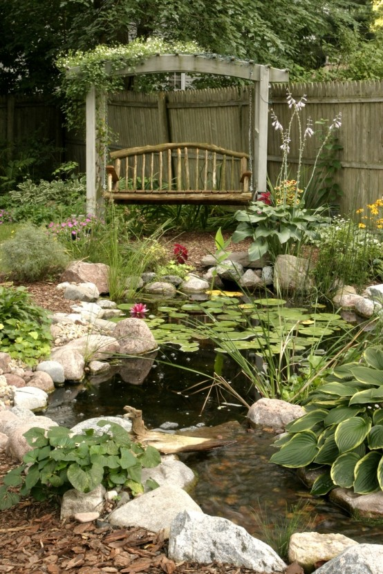Awesome Backyard Pond Design Ideas