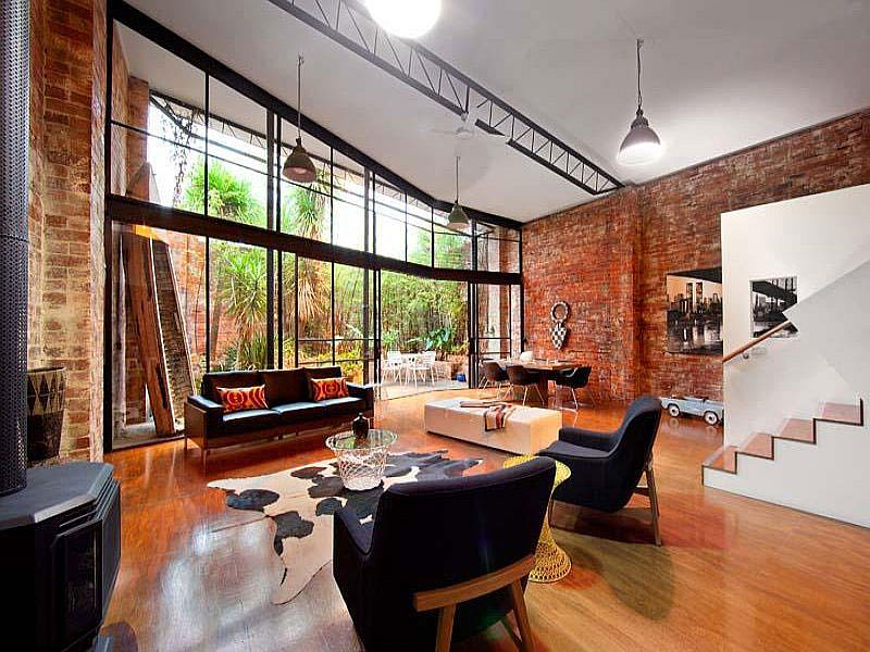 Brick Wall Home Offices Design