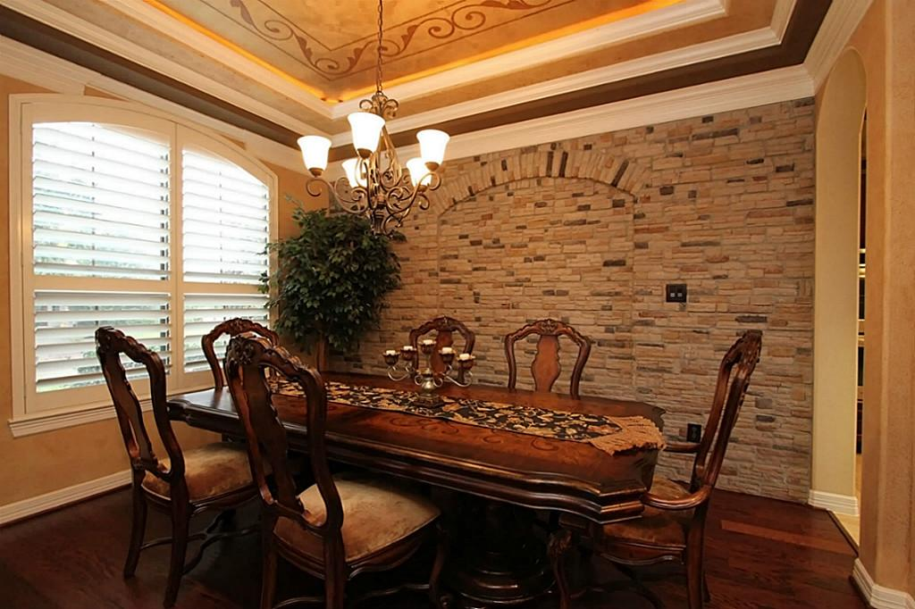 Classic-Stone-Wall-Decoration-for-Classic-Dining-Room