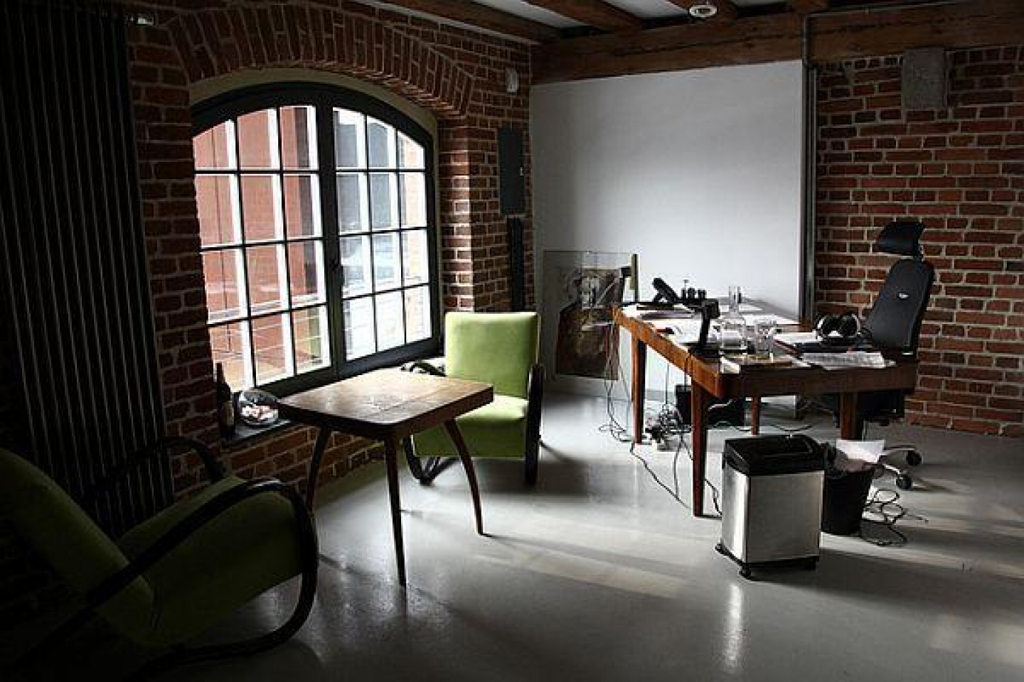 Classy Brick Wall Home Offices