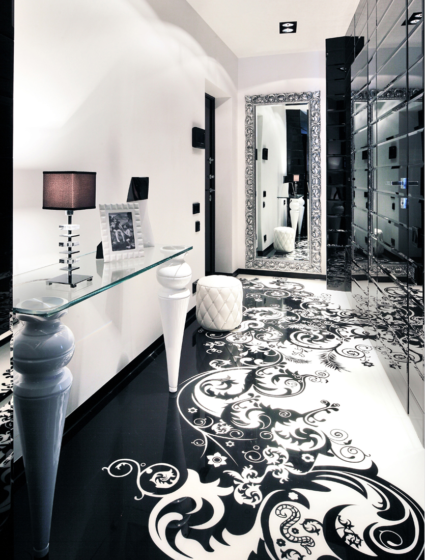 Lovely Black And White Interior Design