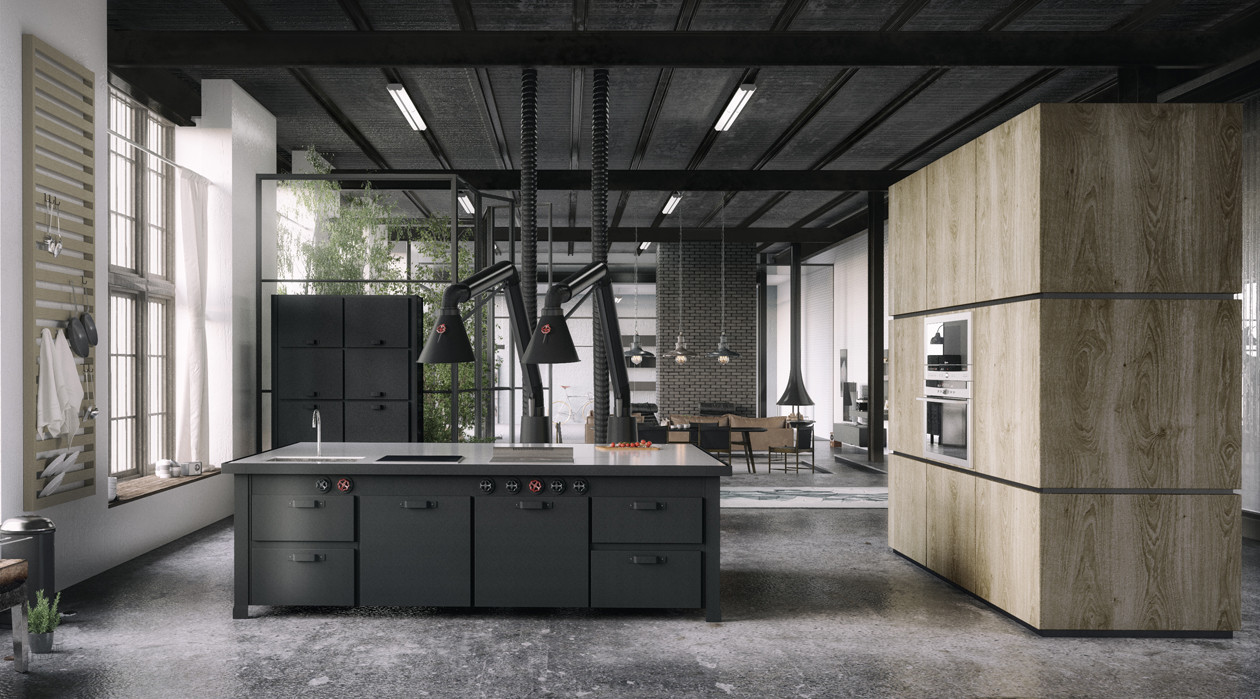 Stunning Industrial Kitchen Design