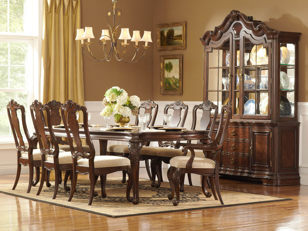 traditional dining room sets Timeless Traditional Dining Room Designs   Interior Vogue traditional dining room sets