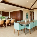 Trendy And Stylish Tropical Dining Room Design