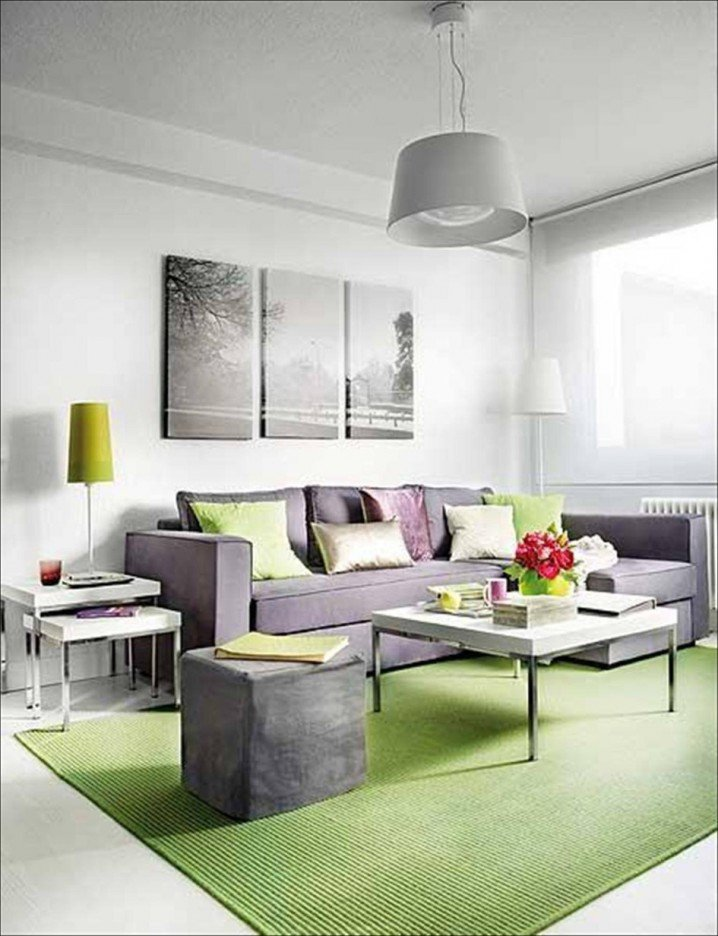 green-carpet-gray-modern-sofa-plus-charming-coffee-table-and-side-table-beautify-minimalist-living-room-that-also-perfected-with-splendid-pendant-lamps
