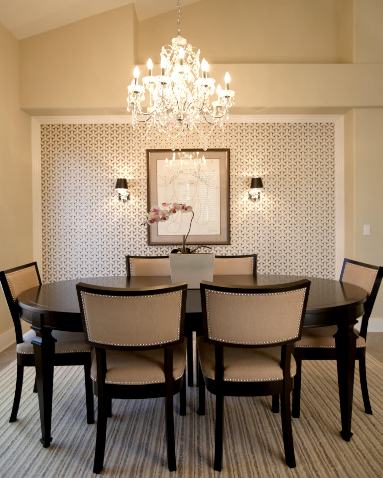 transitional-dining-room-chandeliers