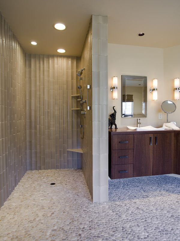 Beautiful Bathroom With Walk In Showers