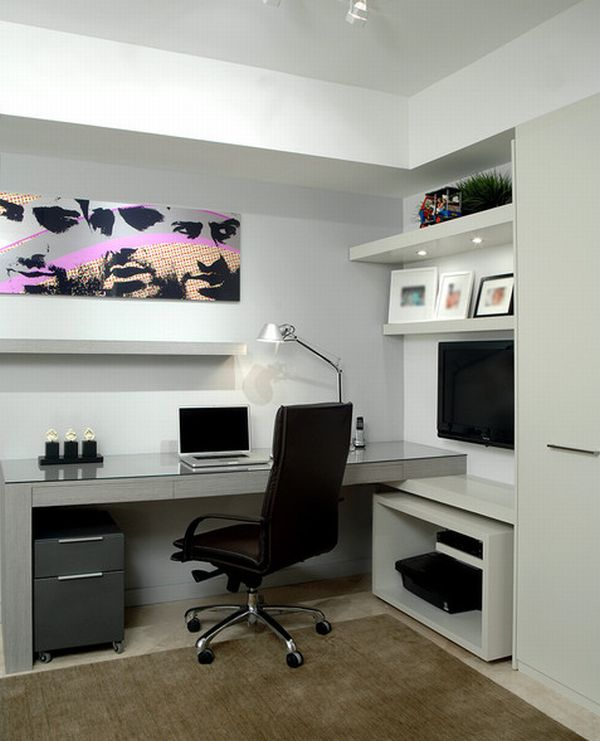 Charming Modern Home Office Design
