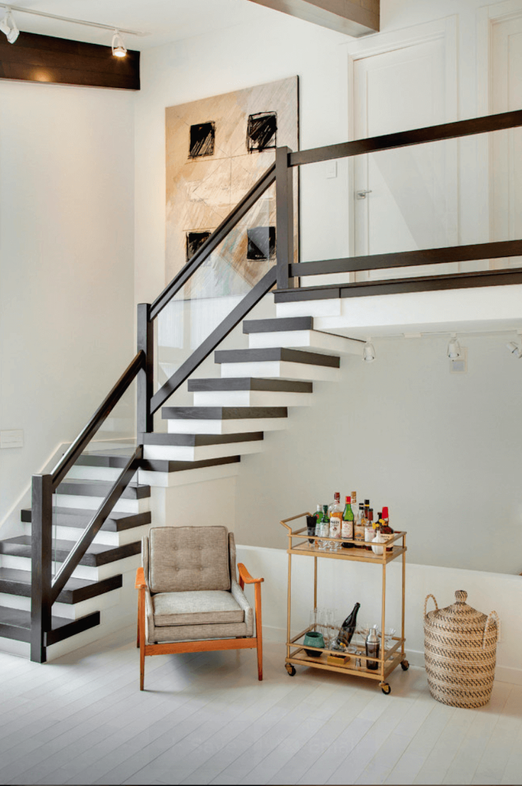 Fabulous mid century modern staircase designs interior vogue Mid century modern design ideas