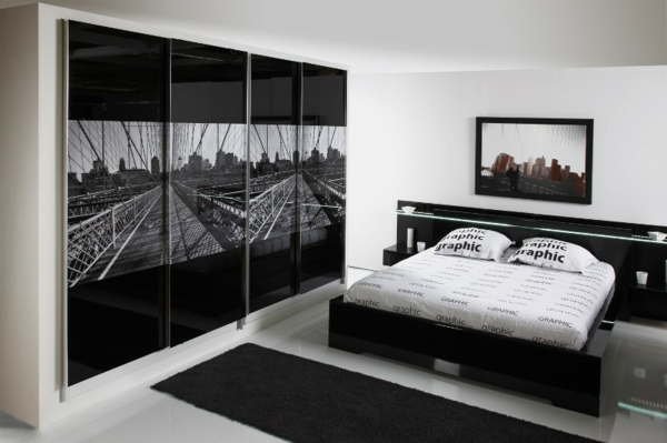 Classy Black And White Bedroom Designs