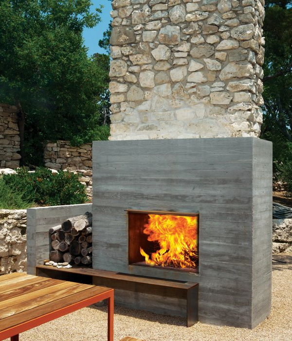 Beautiful Rustic Outdoor Fireplace Design Ideas 687: Popular And Trendy Modern Outdoor Fireplaces