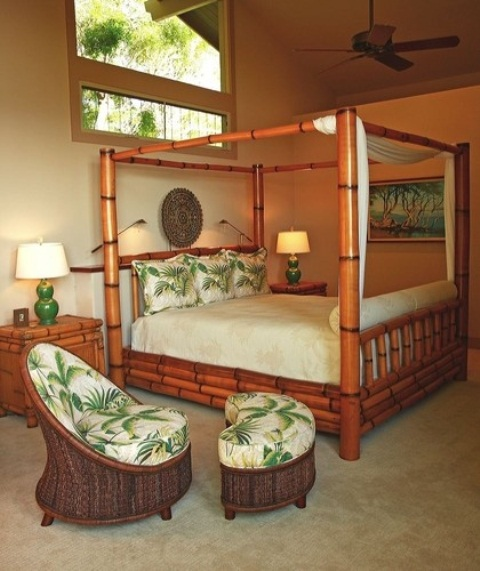 Cool Tropical Bedroom Design