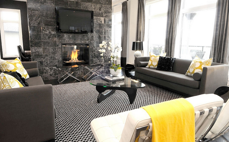 Gorgeous-black-and-white-living-room