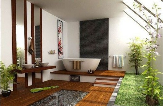 Green-tropical-bathroom