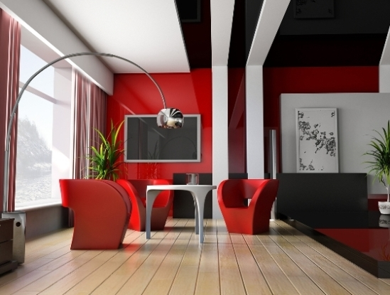 red-interior-design