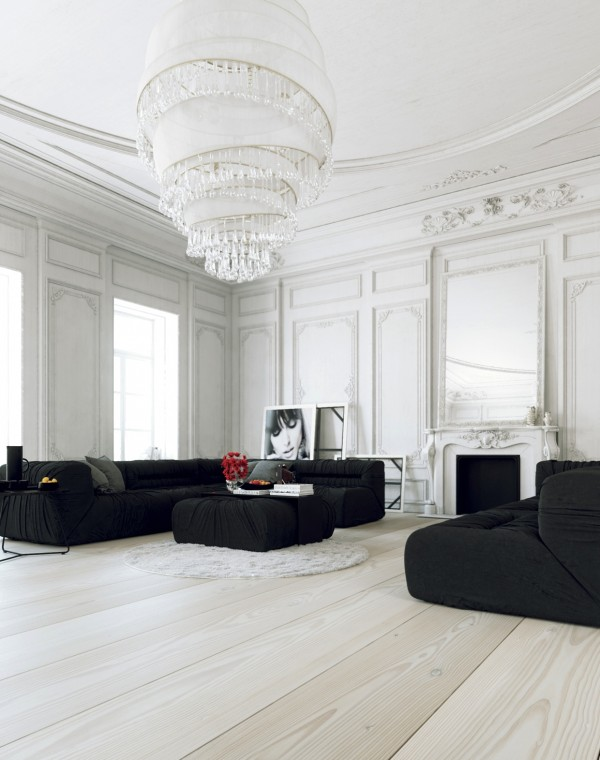 Black-and-White-Scandinavian-Living-Room-Design
