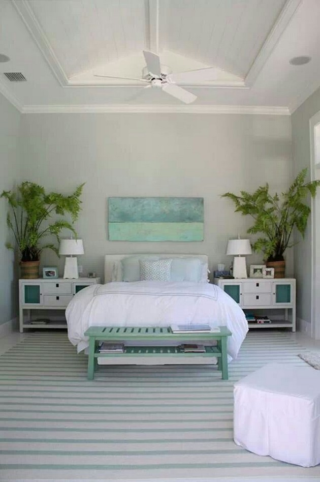 20 beautiful beach style bedroom designs interior vogue for Blue beach bedroom ideas