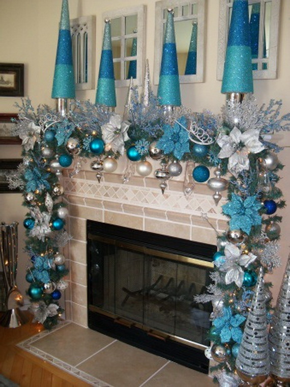 fresh blue christmas decorating ideas - Blue White Christmas Decorating Ideas