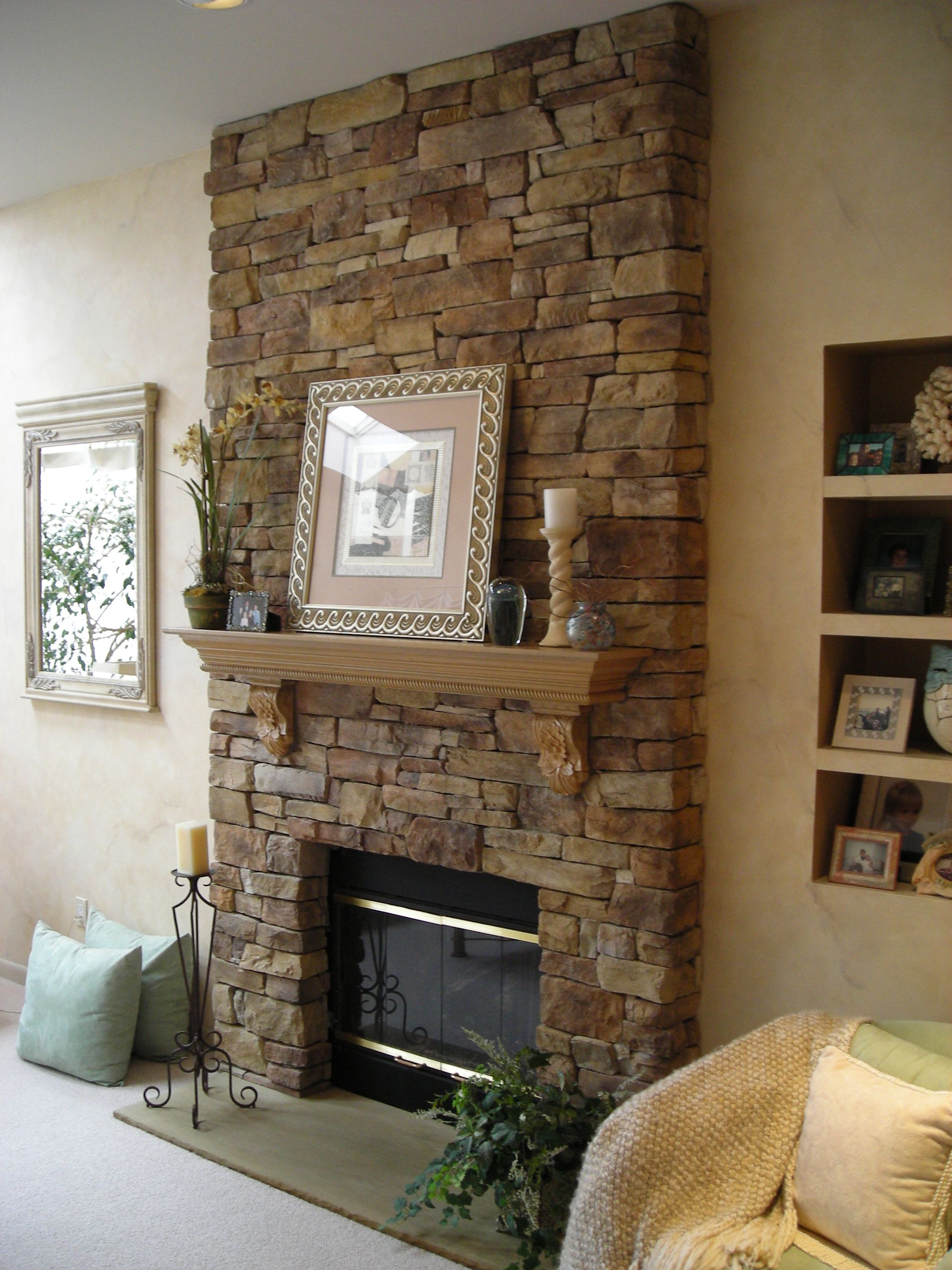 40 Beautiful Living Room Designs With Fireplace - Interior ...