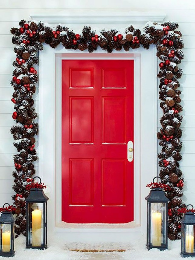christmas-door-garland-ideas