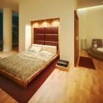 Modern Bedroom Design With Open Bathroom Concept